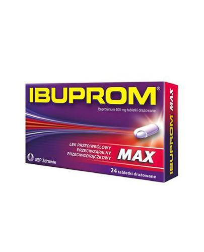 IBUPROM MAX - 24 tabl. - lek przeciwzapalny i przeciwgorączkowy - cena, opinie, wskazania - Apteka internetowa Melissa
