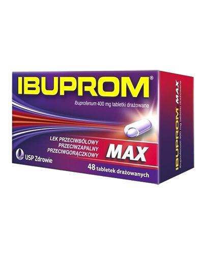 IBUPROM MAX - 48 tabl. lek przeciwbólowy - opinie, stosowanie, ulotka