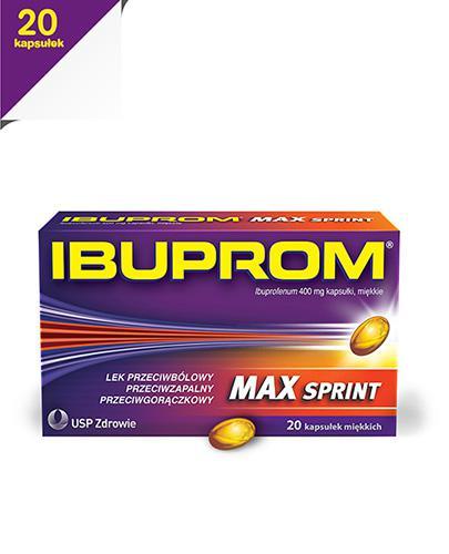 IBUPROM MAX SPRINT - 20 kaps. - szybkie wchłanianie - cena, opinie, wskazania