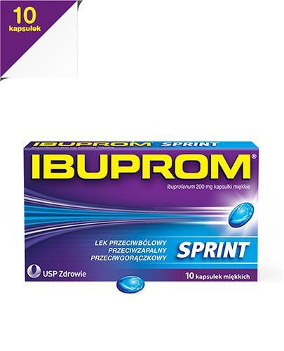 IBUPROM SPRINT CAPS - 10 kaps. - szybko leczy stan zapalny - cena, opinie, właściwości - Apteka internetowa Melissa