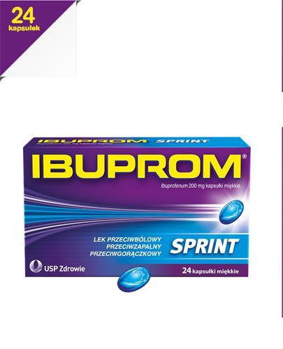 IBUPROM SPRINT CAPS - 24 kaps.   - Apteka internetowa Melissa