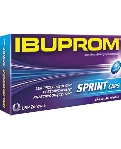 IBUPROM SPRINT CAPS - 24 kaps. - szybko leczy stan zapalny - cena, opinie, wskazania - Apteka internetowa Melissa