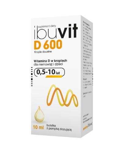 IBUVIT D 600 Krople doustne - 10 ml - Apteka internetowa Melissa