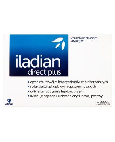 Iladian Direct Plus tabletki dopochwowe - 10 tabl. - cena, ulotka, opinie - Drogeria Melissa