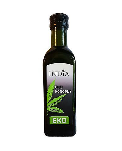 India Ekologiczny Olej z konopi siewnej nierafinowany - 100 ml - cena, opinie, właściwości Data ważności 2021.06.30 - Apteka internetowa Melissa