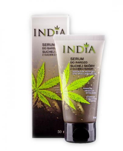 INDIA Serum z olejkiem z konopi do bardzo suchej skóry - 50 ml - Apteka internetowa Melissa