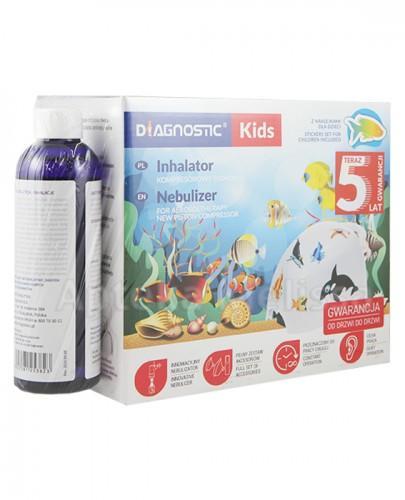 DIAGNOSTIC KIDS Inhalator kompresorowo tłokowy - 1 szt. + Mgiełka solankowa - 200 ml - Apteka internetowa Melissa
