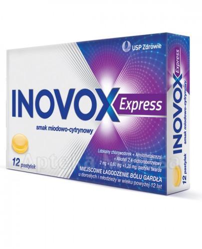 INOVOX EXPRESS Smak miodowo-cytrynowy - 12 past. - Apteka internetowa Melissa