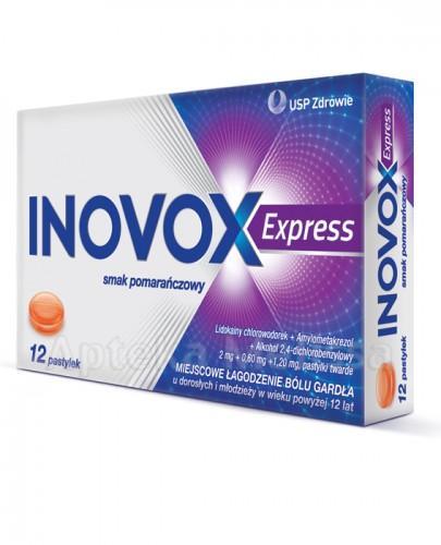 INOVOX EXPRESS Smak pomarańczowy - 12 past. - Apteka internetowa Melissa