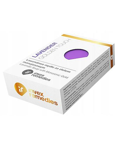 Invex Remedies Lawendowe mydło ze złotem monojonowym - 100 g - cena, opinie, właściwości - Drogeria Melissa