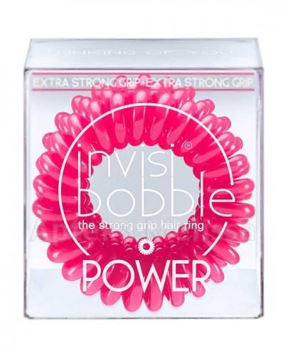 INVISIBOBBLE POWER  Różowe gumki do włosów - 3 szt.