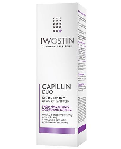 IWOSTIN CAPILLIN DUO Krem ujędrniający na naczynka SPF20 - 40 ml