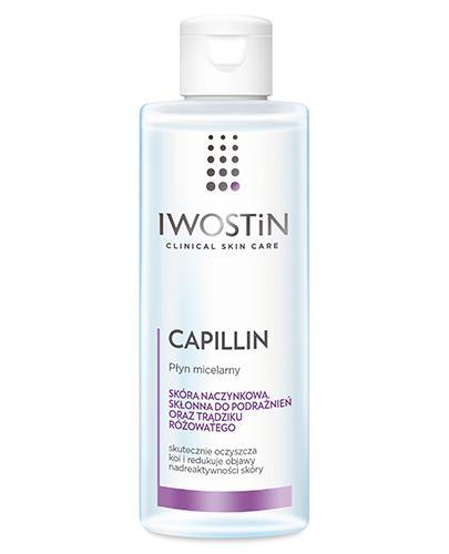 IWOSTIN CAPILLIN Płyn micelarny wzmacniający naczynka - 215 ml - Drogeria Melissa