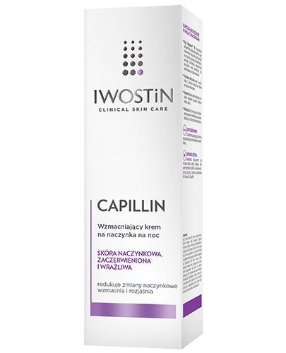 IWOSTIN CAPILLIN Wzmacniający krem na naczynka na noc - 40 ml