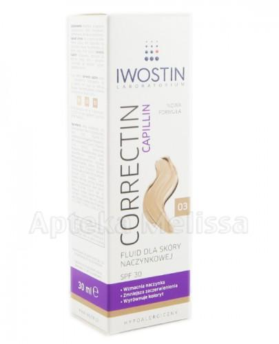 IWOSTIN CORRECTIN CAPILLIN Fluid wzmacniający trwale kryjący odcień 03 - 30 ml - Apteka internetowa Melissa