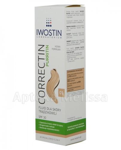 IWOSTIN CORRECTIN PURRITIN Fluid dla skóry trądzikowej SPF30 odcień 01 - 30ml - Apteka internetowa Melissa