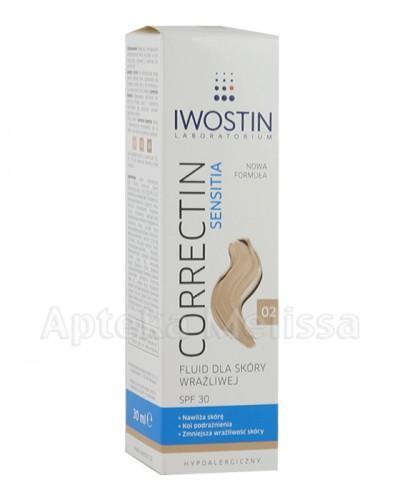 IWOSTIN CORRECTIN SENSITIA Fluid dla skóry wrażliwej SPF30 odcień 02 - 30 ml - Apteka internetowa Melissa