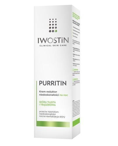 IWOSTIN PURRITIN Krem na noc redukujący niedoskonałości - 40 ml