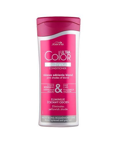 Joanna Ultra Color Odżywka różowe odcienie blond - 200 ml Do naturalnie jasnych włosów, rozjaśnianych i siwych - cena, opinie, stosowanie