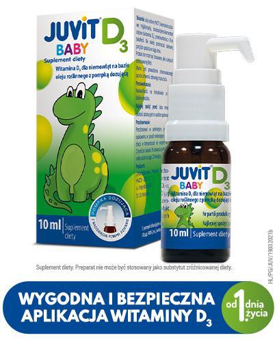JUVIT BABY D3 Krople doustne z pompką - 10 ml - cena, opinie, wskazania - Drogeria Melissa