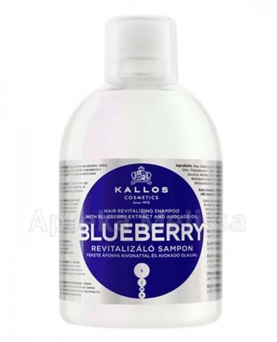 KALLOS BLUEBERRY Rewitalizujący szampon z ekstraktem czarnej jagody i olejem avokado - 1000 ml - Apteka internetowa Melissa