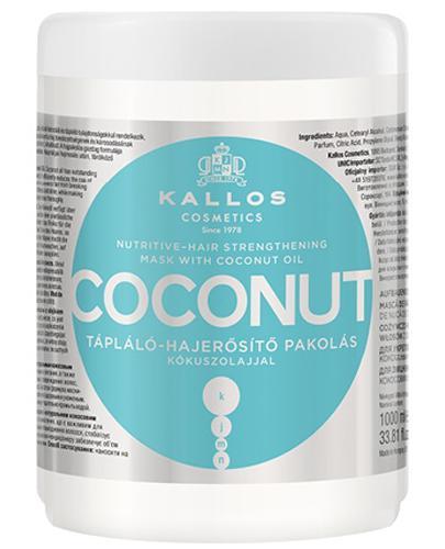 Kallos KJMN Coconut Odżywczo-wzmacniająca maseczka do włosów z olejkiem kokosowym - 1000 ml - cena, opinie, właściwości - Apteka internetowa Melissa