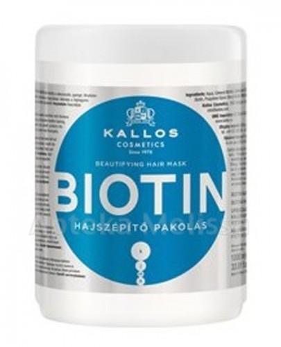 KALLOS BIOTIN Maska do włosów cienkich, matowych i słabych - 1000 ml - Apteka internetowa Melissa