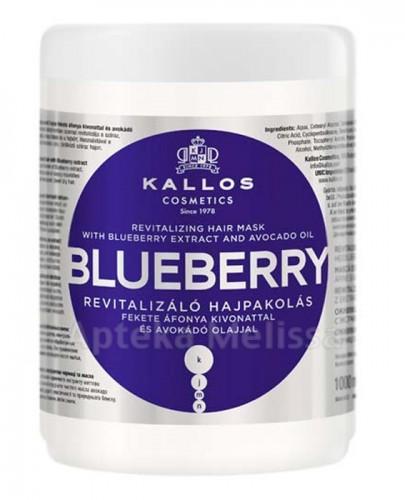 KALLOS BLUEBERRY Rewitalizująca maska do włosów suchych i zniszczonych z ekstraktem czarnej jagody i olejem avokado - 1000 ml  - Apteka internetowa Melissa