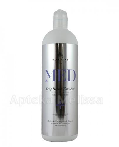 KALLOS MED DEEP REPAIR Szampon z keratyną, kolagenem i kwasem hialuronowym do suchych, zniszczonych włosów - 1000 ml - Apteka internetowa Melissa