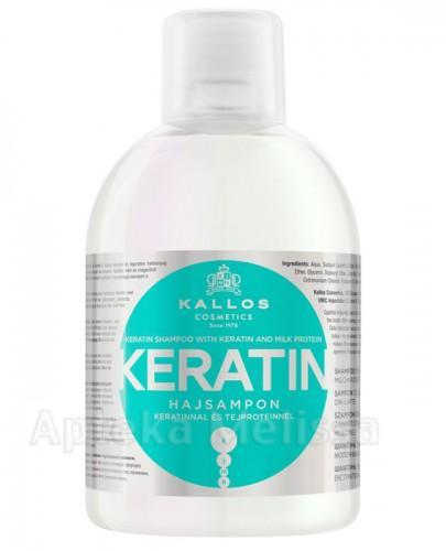 KALLOS KERATIN Keratynowy szampon z proteinami mleka - 1000 ml - Apteka internetowa Melissa
