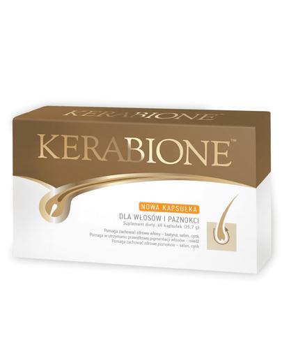 KERABIONE - 60 kaps. suplement na włosy i paznokcie - opinie, stosowanie, ulotka