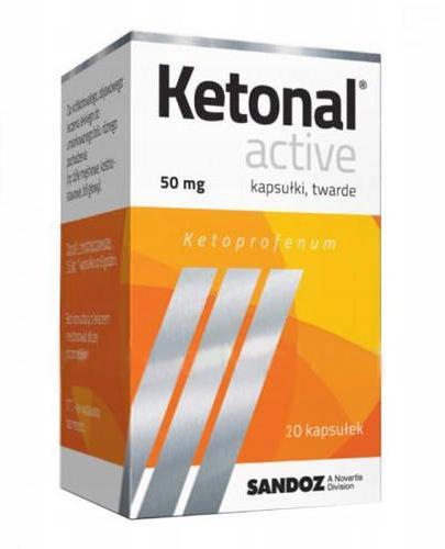 Ketonal Active - 20 kaps. - lek przeciwzapalny - cena, opinie, dawkowanie
