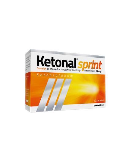 KETONAL SPRINT 25 mg - lek przeciwbólowy - 12 sasz. - cena, opinie, dawkowanie - Apteka internetowa Melissa
