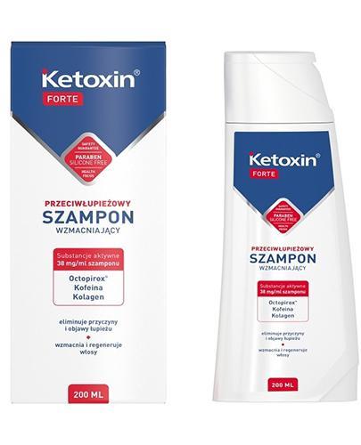 KETOXIN FORTE Szampon przeciwłupieżowy - 200 ml - wzmacniający - cena, opinie, właściwości - Apteka internetowa Melissa