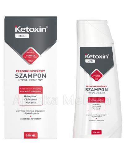 KETOXIN MED Szampon przeciwłupieżowy - 200 ml - hipoalergiczny - cena, opinie, właściwości