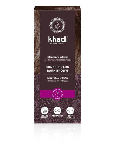 Khadi Henna ciemny brąz - 100 g - cena, opinie, stosowanie - Drogeria Melissa