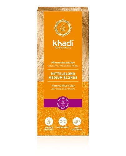 Khadi Henna Średni Blond - 100 g - cena, opinie, właściwości - Drogeria Melissa