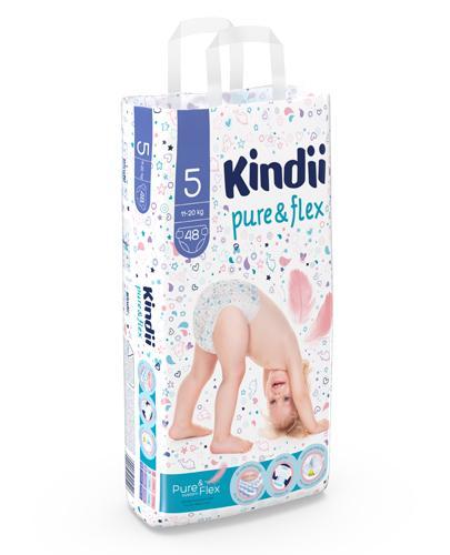 KINDII PURE&FLEX Pieluchy junior, rozm. 5 (11-20 kg) - 48 szt.