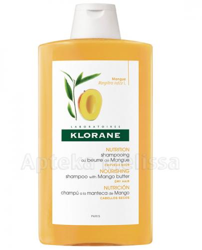KLORANE Szampon odżywczy na bazie wyciągu z mango - 400 ml + PREZENT Klorane balsam - 50 ml - Apteka internetowa Melissa
