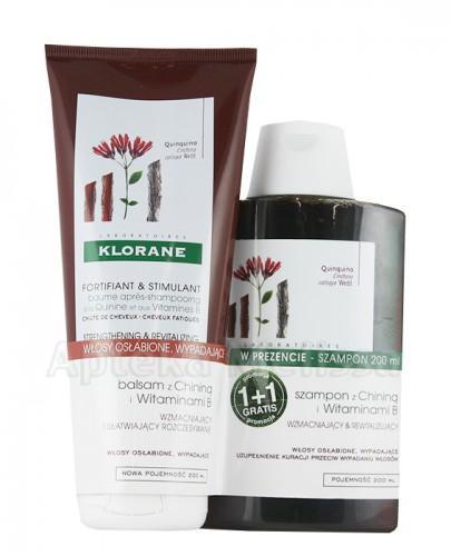 KLORANE Szampon na bazie chininy z wit.B - 200 ml + KLORANE Balsam na bazie wyciągu z chininy z wit.B - 200 ml - Apteka internetowa Melissa