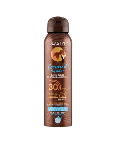 Kolastyna Coconut Paradise Suchy olejek do opalania w mgiełce SPF30 - 150 ml - cena, opinie, właściwości - Apteka internetowa Melissa