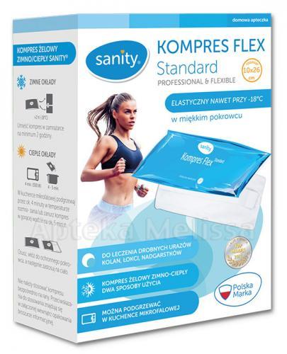SANITY Kompres żelowy flex standard 10 cm x 26 cm - 1 szt. - Apteka internetowa Melissa