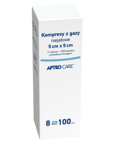 APTEO CARE Kompresy z gazy niejałowe 5 cm x 5 cm - 100 szt. - Apteka internetowa Melissa