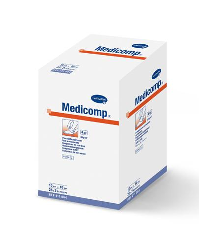 MEDICOMP Kompresy jałowe 10cm x 10cm - 50 szt. - Apteka internetowa Melissa