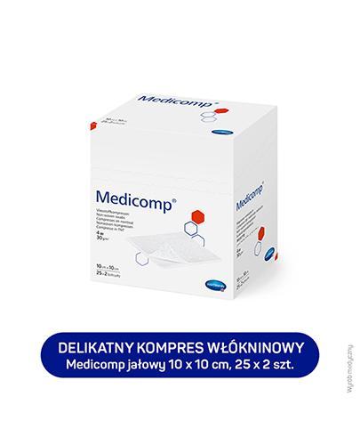MEDICOMP Kompresy jałowe 10cm x 10cm - 50 szt. - cena, opinie, stosowanie  - Apteka internetowa Melissa
