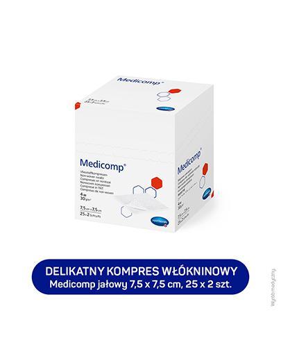 MEDICOMP Kompresy jałowe 7,5 cm x 7,5 cm - 50 szt. - cena, opinie, właściwości