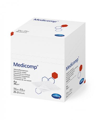 MEDICOMP Kompresy jałowe 7,5 cm x 7,5 cm - 50 szt. - cena, opinie, właściwości  - Apteka internetowa Melissa