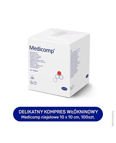 MEDICOMP Kompresy niejałowe 10cm x 10cm - 100 szt. - cena, opinie, wskazania