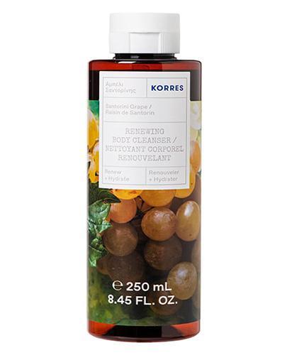 Korres Żel do mycia ciała o zapachu winogron z Santorini - 250 ml - cena, opinie, skład - Drogeria Melissa