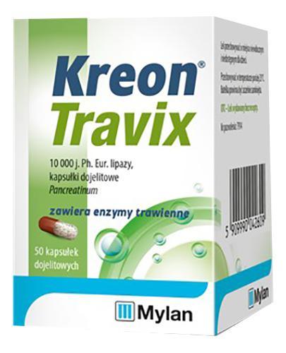 KREON TRAVIX - 50 kaps. lek na trawienie - cena, opinie, dawkowanie - Apteka internetowa Melissa